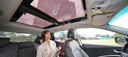 Hyundai goes solar with panelled cars
