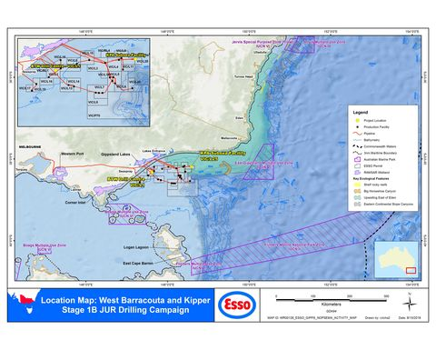 ExxonMobil to drill West Barracouta and Kipper