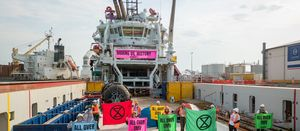 Police arresting dozens of activists aboard OMV support vessel