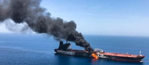 Iran blamed after two large oil tankers hit with explosives