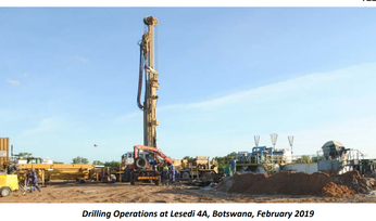Tlou completes Lesedi drilling program