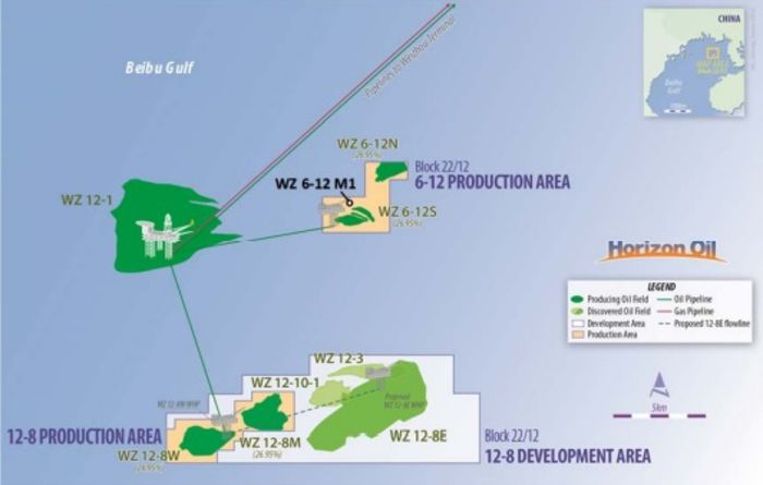 Horizon spuds exploration well in South China Sea