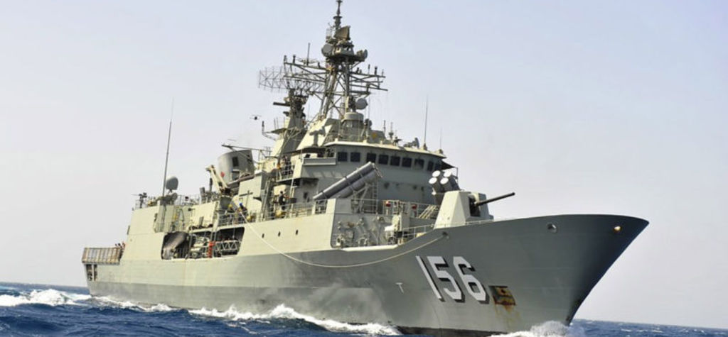 HMAS Toowoomba departs Perth for Middle East