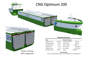 GEV on home stretch for CNG Optimum ship design