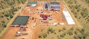 Origin begins fraccing big budget Kyalla well