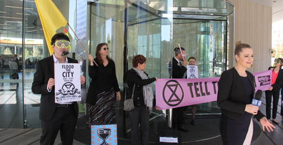 Extinction Rebellion protest Woodside