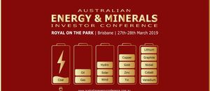 Energy and Minerals conference begins tomorrow in Brisbane