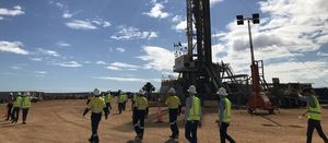 Gas shows while drilling at West Erregulla