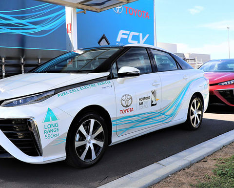 Hydrogen cars trialled at Melbourne council