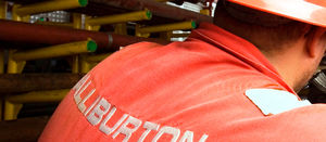 Halliburton and Schlumberger yearly revenue up