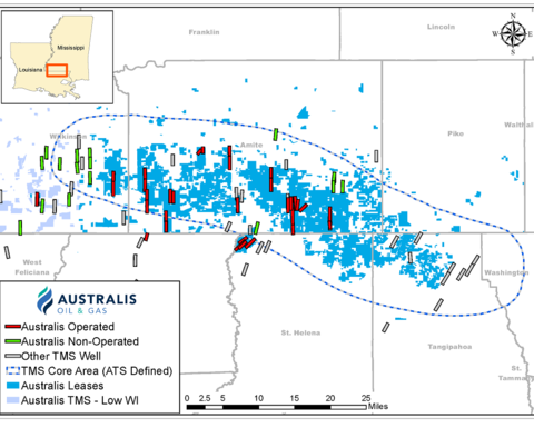 Australis nears end of six well drilling campaign