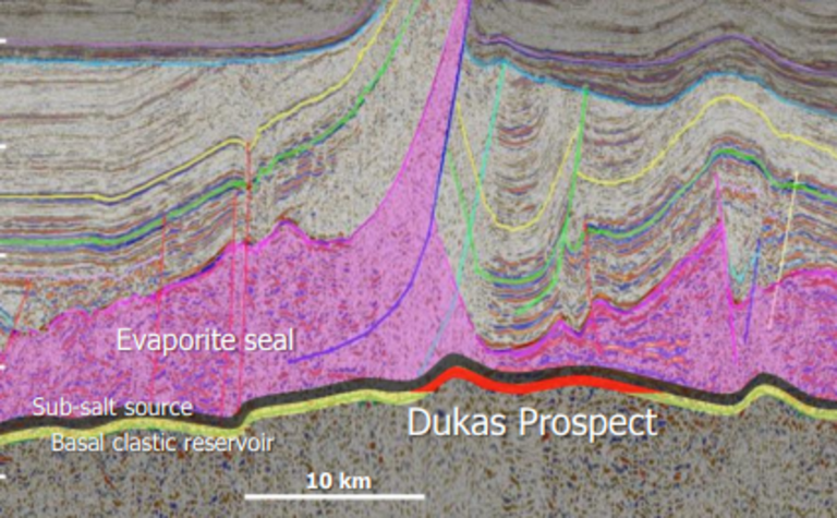 Santos drills through Gillen formation in Dukas-1 well