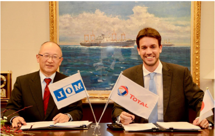 Total's LNG bunker contract