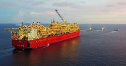 Mystery oil slick at Prelude FLNG