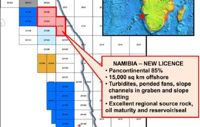 Pancontinental buoyed by Namibian mapping