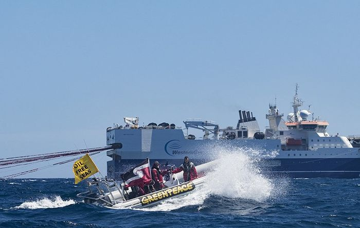 Greenpeace delivers seismic challenge
