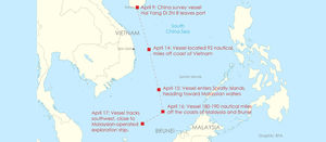 Clash over oil and gas reserves in South China Sea