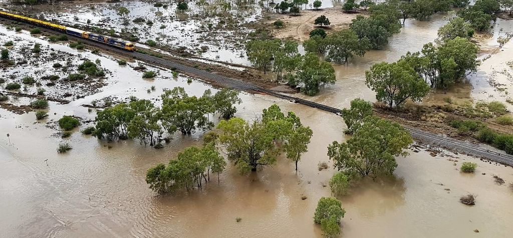 Rainfall floods Galilee Basin