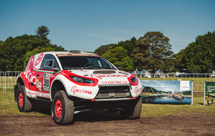 Acciona brings record-breaking electric rally car to Oz