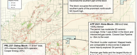 Metgasco gains Queensland Cooper Basin blocks